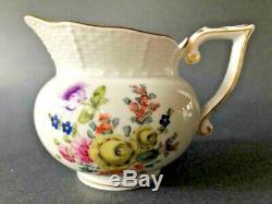 Herend PorcelainHP BASKET WEAVE 3 PC. TEA SET-TEA POT, SUGAR JAR, CREAMERMint