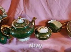 Homer Laughlin Lady Greenbriar Yellow Roses China Set 98 Pieces Teapot Platter