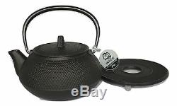 IWACHU Japanese Cast Iron Kettle/Teapot ARARE (0.65L) and Trivet Set