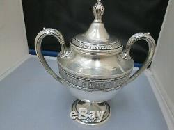 International WEDGWOOD Sterling Silver 4pc. Teapot Serving Set Creamer Sugar
