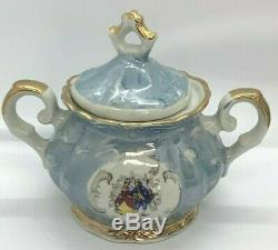 Italian Porcelain Coffee / Espresso Tea Set 1960's Vertible Vintage Italy Teapot