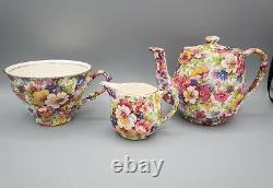 James Kent Dubarry Breakfast Set PARTIAL Tray Teapot Cup Creamer FREE USA SHIP