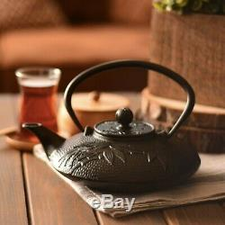 Japanese Tetsubin Cast Iron Hobnail Teapot+Trivet+ 2 Cup Set Teacup, Tea Cup