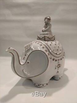 Jonathan Adler Utopia Darjeeling gray elephant teapot, NWT