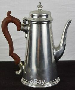 Kirk Stieff Pewter Williamsburg 4pc Coffee Tea Pot Creamer Sugar Set and Tray