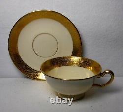 LENOX china WESTCHESTER M-139 Green Mark 24-piece TEA SET Teapot Creamer Sugar +