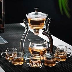 Lazy Kungfu Glass Tea Set Magnetic Water Diversion Rotating Crystal Glass