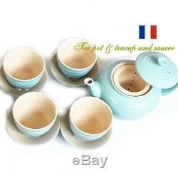 Le Creuset Kitchen Limited Tea pot Tea set Satin blue