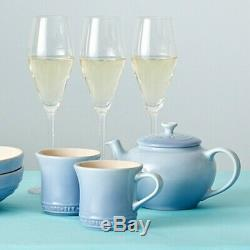 Le Creuset Teapot & Mug (SS) (2 pieces) Set Coastal Blue tableware