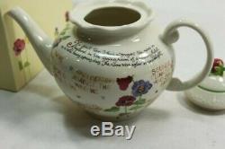 Lenox Susan Branch A Proper Tea Teapot Extremely Rare