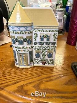 Lenox Village Set (Teapot, Coffeepot, Sugar & Creamer, 2 Planters&Napkin Rings)