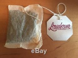 Longaberger Collectors Club Tea Set with Tea Pot, Sugar, Creamer, & Tray Combo USA
