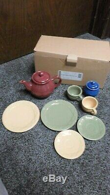 Longaberger Woven Traditions Children's Child's Tea Party Set #31627 -New in Box