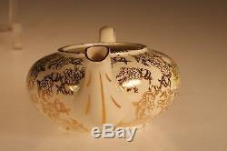 Lord Nelson Ware Art Deco Pompadour Stacking Teapot Set, England c. 1938