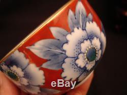MARKED Fukagawa JAPANESE MEIJI PERIOD TEA POT / COVERED CUPS SET