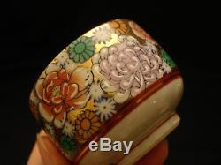 MARKED Kutani JAPANESE SHOWA KUTANI THOUSAND FLOWER TEA POT / LIDDED CUP SET
