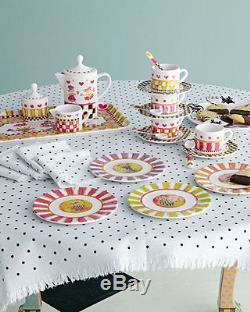 MacKenzie Childs Tea Party Child Set Sugar Creamer Teapot 4 Place Settings ++