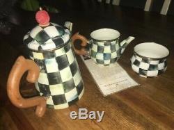 Mackenzie Childs Courtly Teapot Set