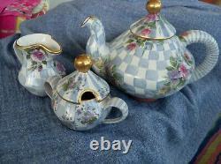 Mackenzie Childs Honeymoon Blue Tea Set EUC Display Only