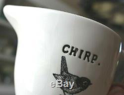 Magenta Exclusive CHIRP TEA SET Teapot, Covered Sugar Bowl, & Creamer Rae Dunn