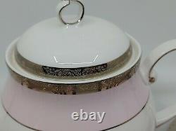 Mary Kay Pink & Platinum China 40th Anniversary 5pc Place Setting (2) + Teapot