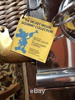 Michael Graves Mickey Mouse silver teapot set