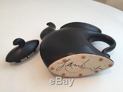 Michael Lambert Dancing Art Pottery Tea Coffee Pot Set-Black