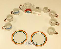 Mid Century Modern Vandor Imports Rainbow Tea Coffee Set Made in Japan 1979 1980
