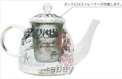 Moomin Tea Pot & 2 Cups Set Heat Resistant Glass MM-S009 Japan With Tracking