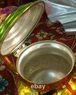 Moroccan Tea Set, 2 Cups Tea Glasses, Teapot, Tea Tray Brand New