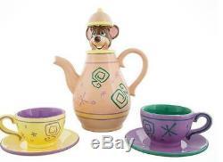 NEW Ceramic DISNEY DORMOUSE TEA SET Alice in Wonderland WHIMSICAL TEA POT 2 CUPS