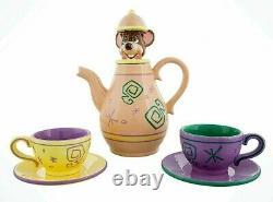 NEW! Disney Alice in Wonderland Mad Tea Party Dormouse Teapot & Teacup Set