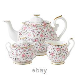 NEW Royal Albert Rose Confetti Teapot Set 3pce
