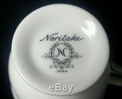NORITAKE GUENEVERE Tea 6 Footed Cup & Saucer Sets, Sugar Bowl, Creamer & Teapot