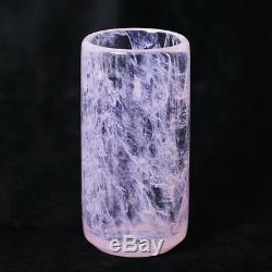 Natural Rose Quartz Pink Crystal Teacup Tea Sets Polished Cup Collectibles Gift