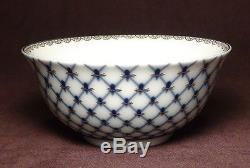 New, Russian Lomonosov design cobalt blue net bone china tea set 1teapot 6 bowl
