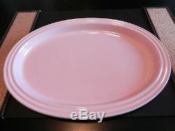 New Used Le Creuset Pink Tea Set Platter 2 Teapots 2 Mini Condiment Pots Spoons