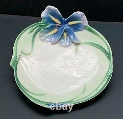 Nib Franz Long Tail Hummingbird Design Porcelain Cup & Saucer Set #fz00129