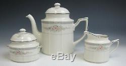 Noritake China ROTHSCHILD Teapot/Creamer/Sugar Bowl Set EXCELLENT