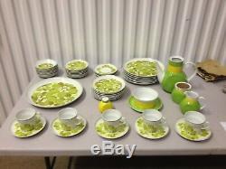 Noritake Hawaiian Holiday Wahine 46pc Set Dinner Plates Salad Cups Tea Pot Sugar