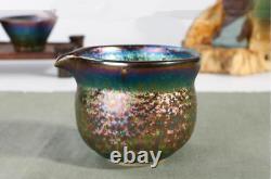 OIL Spot Tenmoku Tea Bowl Cup Peacock color Tianmu Chawan JianZhan set Teapot