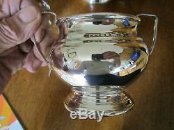 Old Antique Garrard & Co 4 Piece Silver Plate Teapot Set Teekane English c1930