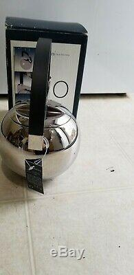 Oliver Hemming Tea Pot 8201 new With Box and tag Bauhaus Art Deco steel