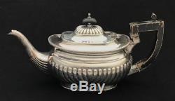 Ornate Vintage Silver Plate Metal Teapot Tea Coffee Pot Service Set silverplate