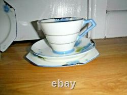 Paragon Art Deco Tea Set For 2 Inc Teapot & Cake Plate Hydrangea RARE