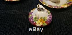 Paragon Spring Melody Fine Bone China Teapot Tea Cups Saucer Set H. M Queen