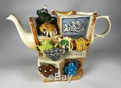 Paul Cardew LE /500 Signed Teapots Through The Ages Large Gold Edition Teapot