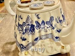 Paul Cardew Teapot Blue Willow Tea Table Signed