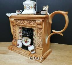 Paul Cardew Teapot Royal Albert Old Country Roses The Classic Fireplace Titan