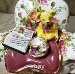Paul Cardew Teapot Royal Albert Porcelain Teddy Bear Armchair